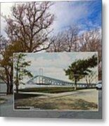 The Harbor At Ft. Greene In Newport Ri Metal Print