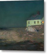 The Harbor Light Metal Print