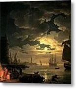 The Harbor Of Palermo Metal Print by Claude Joseph Vernet