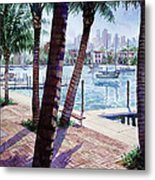 The Harbor Palms Metal Print