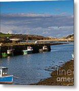 The Harbour At Hayle Cornwall Metal Print