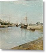The Harbour At Lorient Metal Print