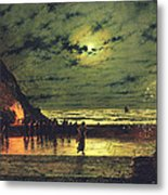 The Harbour Flare Metal Print