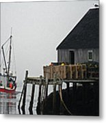 The Harbour Mist Metal Print