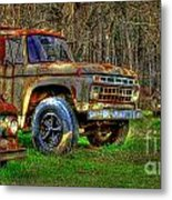 The Hard Headed Ford Work Horses. Metal Print