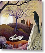 The Hare And Crow Metal Print by Amanda Clark