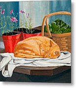 The Harvest Helper Metal Print