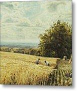 The Harvesters Metal Print by Edmund George Warren