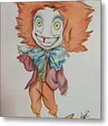 The Hatter Is Mad Metal Print