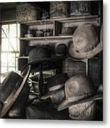 The Hatters Shop - 19th Century Hatter Metal Print