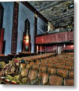 The Haunted Cole Theater Metal Print