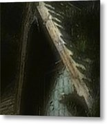The Haunted Gable Metal Print