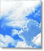The Head In The Clouds Metal Print
