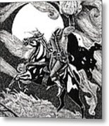 the Headless Horseman Metal Print