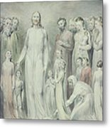The Healing Of The Woman With An Issue Of Blood Metal Print by William Blake