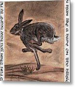 The Heart Of The Hare Metal Print