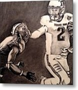The Heismanziel Pose Metal Print by Mark Hutton