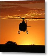 The Helicopter Metal Print