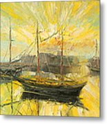 The Heraklion Harbour Metal Print