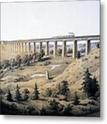 The High Bridge Near Farmville, Prince Metal Print
