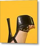 The High Heel Metal Print