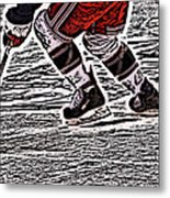 The Hockey Player Metal Print by Karol Livote