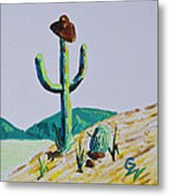 the Hold Up Metal Print