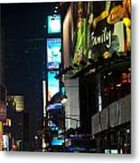 The Holidays In Time Square Metal Print