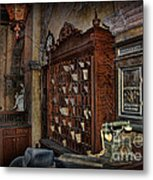 The Hollywood Roosevelt Hotel Reception Desk - Haunted Metal Print by Lee Dos Santos