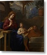 The Holy Family In Egypt Metal Print