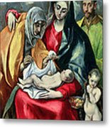 The Holy Family With St Elizabeth Metal Print