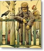 The Honest Thief 02 Illustration For Book By Dostoevsky Metal Print