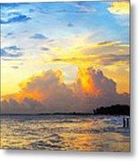 The Honeymoon - Sunset Art By Sharon Cummings Metal Print
