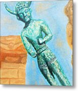 The Horned God From Egkomi .  Metal Print
