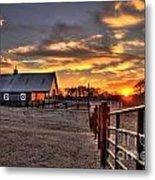 The Horse Barn Sunset Metal Print