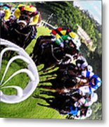 The Horse Race Metal Print