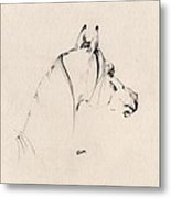 The Horse Sketch Metal Print