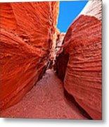 The Hourglass - Half Past Three - Southwest Slot Canyon Metal Print