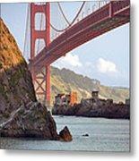The House Below The Golden Gate Bridge Metal Print