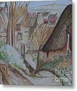The House Of The Hanged Man After Cezanne Metal Print