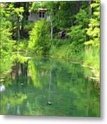 The House On The Bank Of The Lake Metal Print