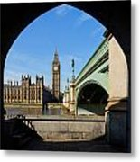 The Houses Of Parliament In London Metal Print