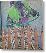 The Hula Hoop Witch Metal Print