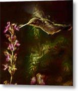The Hummingbird Digital Art Metal Print