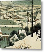 The Hunters In The Snow Metal Print
