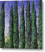 The Hushed Poetry Of Trees In The Night Metal Print by Wendy J St Christopher