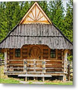 The Hut Metal Print