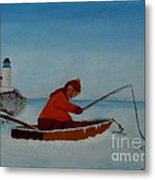 The Ice Fisherman Metal Print