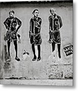 Homage To Banksy Metal Print