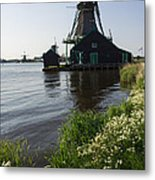 The Iconic Windmills Of  Holland  Metal Print